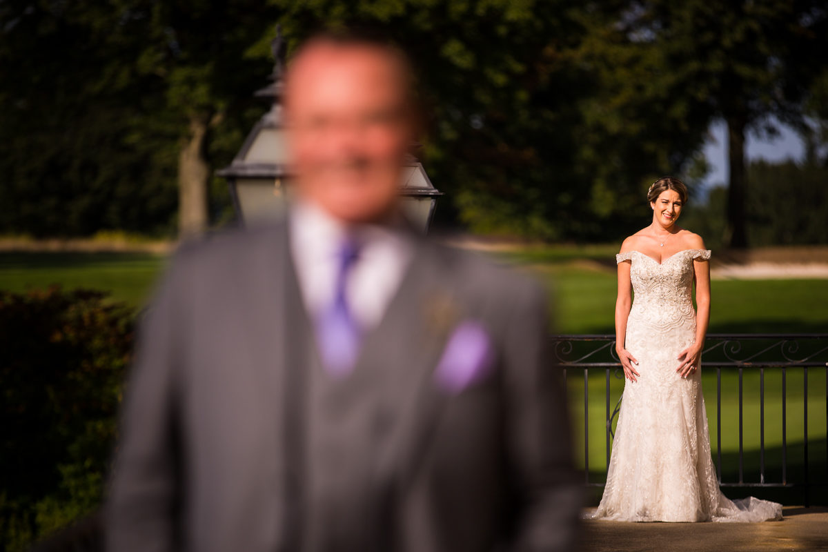 Bride & Groom's First look at Country Club of York