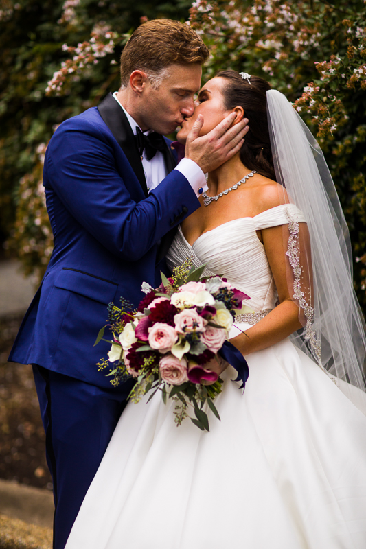 meridian hill wedding vibrant spring colors classic timeless elegant couple kissing