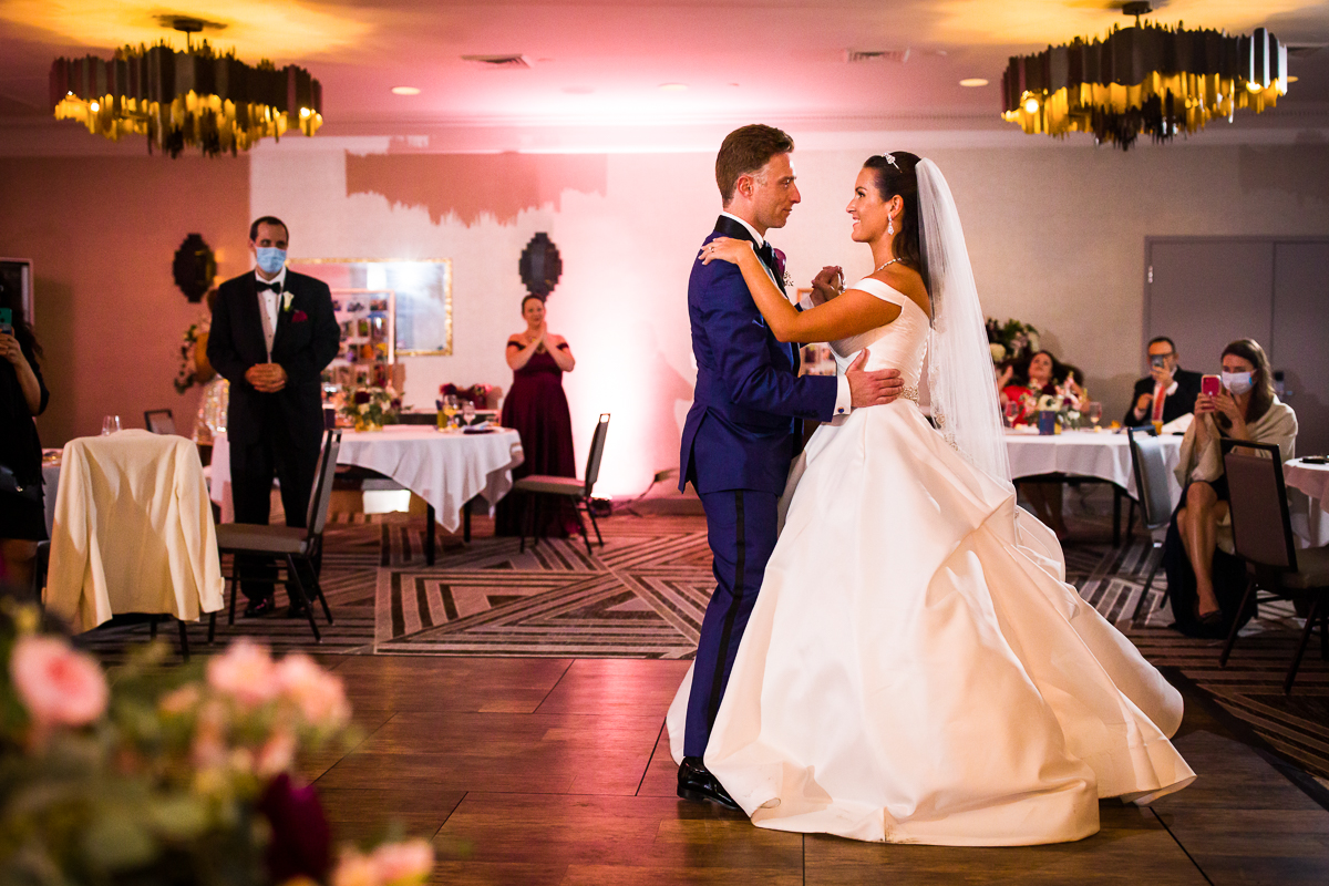 classic bride and grooms first dance during their darcy hotel wedding in washington dc