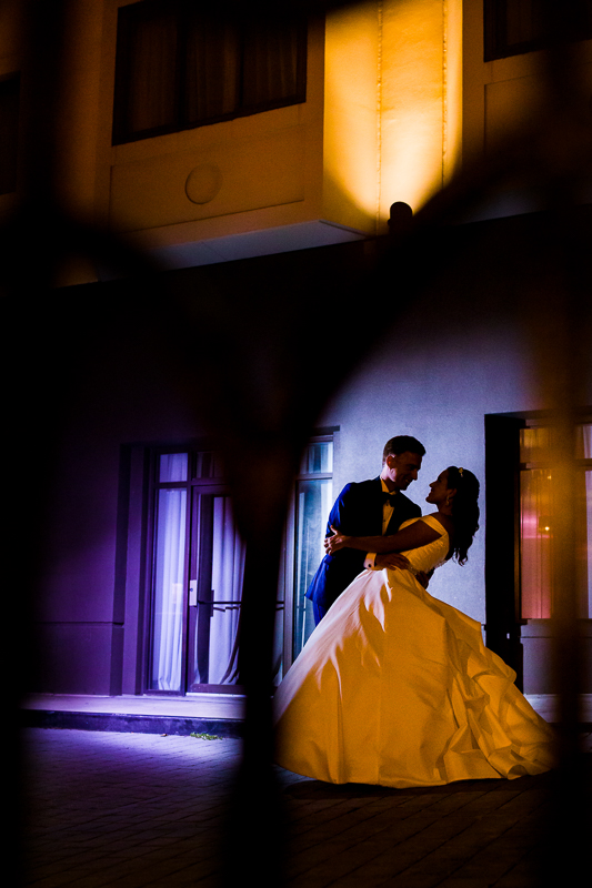 creative and colorful wedding portrait at the darcy hotel in washington dc