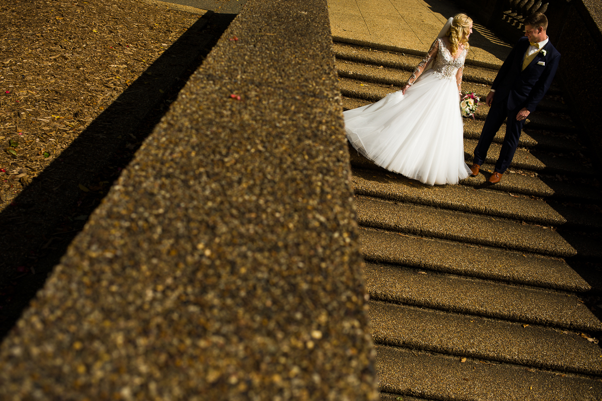 The steps of meridian hill park a romantic location for wedding photography