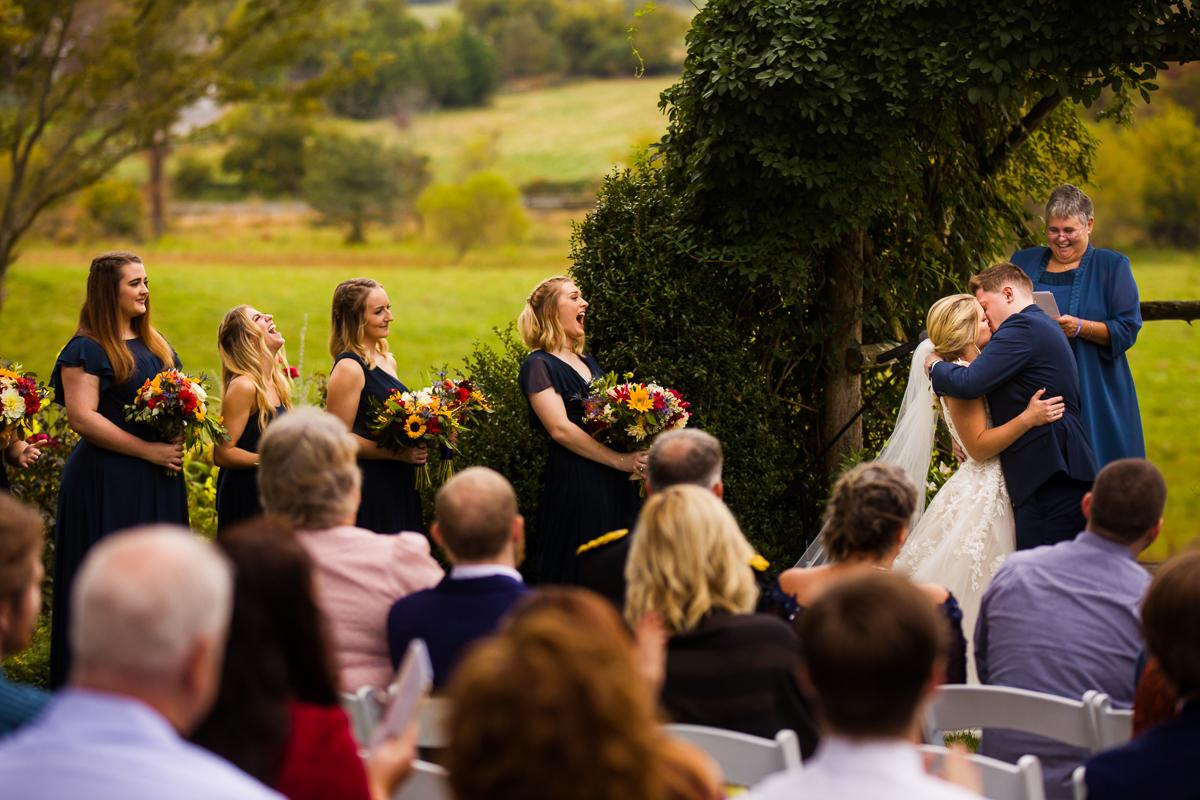 fall silverbrook farm wedding ceremony