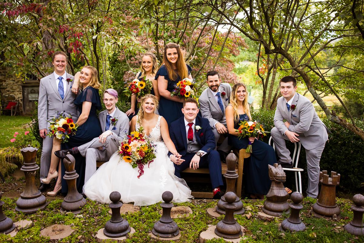 fun creative unique bridal party photo ideas