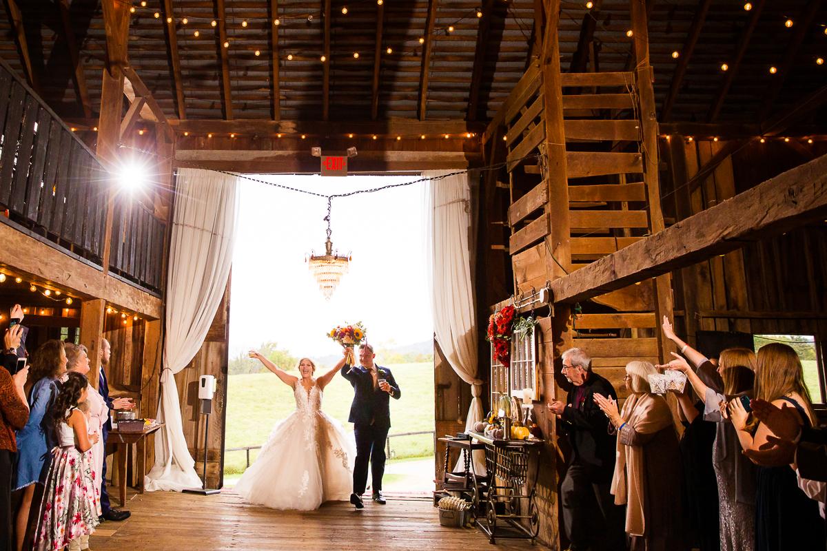 Silverbrook Farm wedding reception entrance into the barn