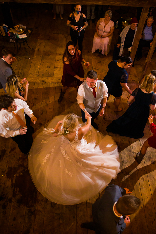 bride spinning on a dance floor creative wedding photography ideas