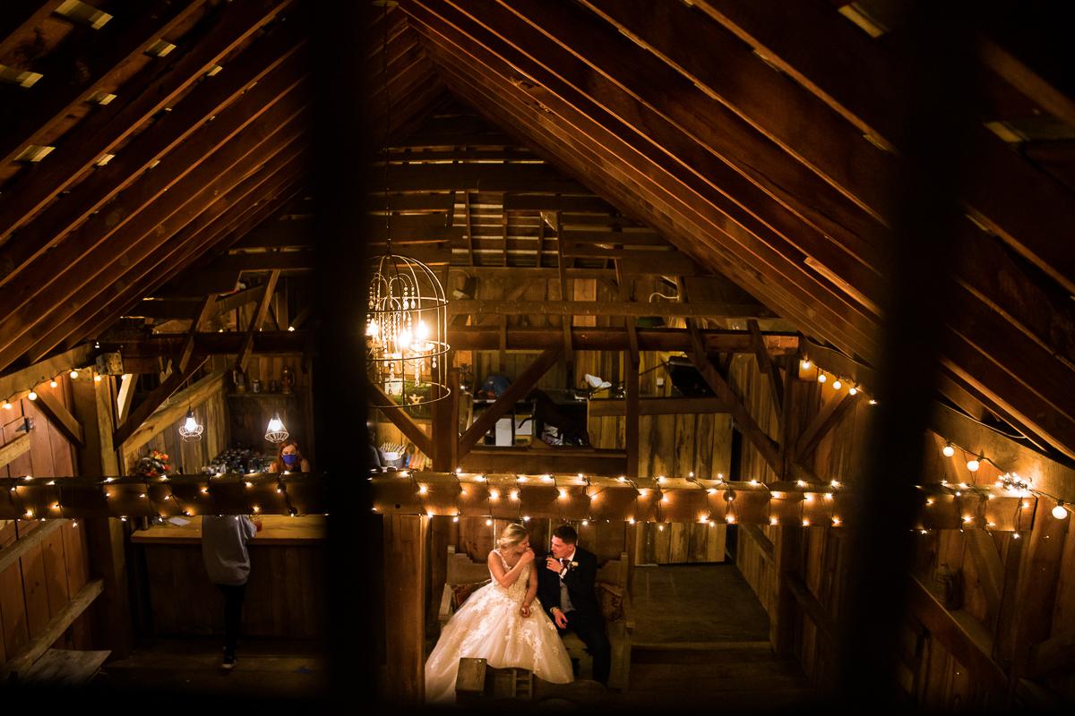 Silverbrook Farm Wedding Barn Reception string lights unique photography