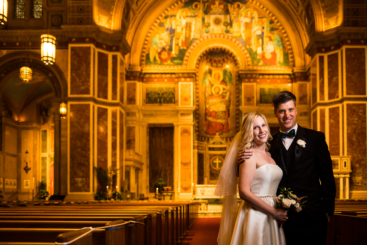 SAINT MATTHEW'S CATHEDRAL WEDDING photographer captures golden sanctuary at the Roman Catholic Archdiocese of Washington