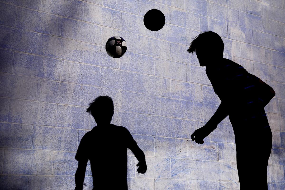 soccer shadow creative portrait photography unique