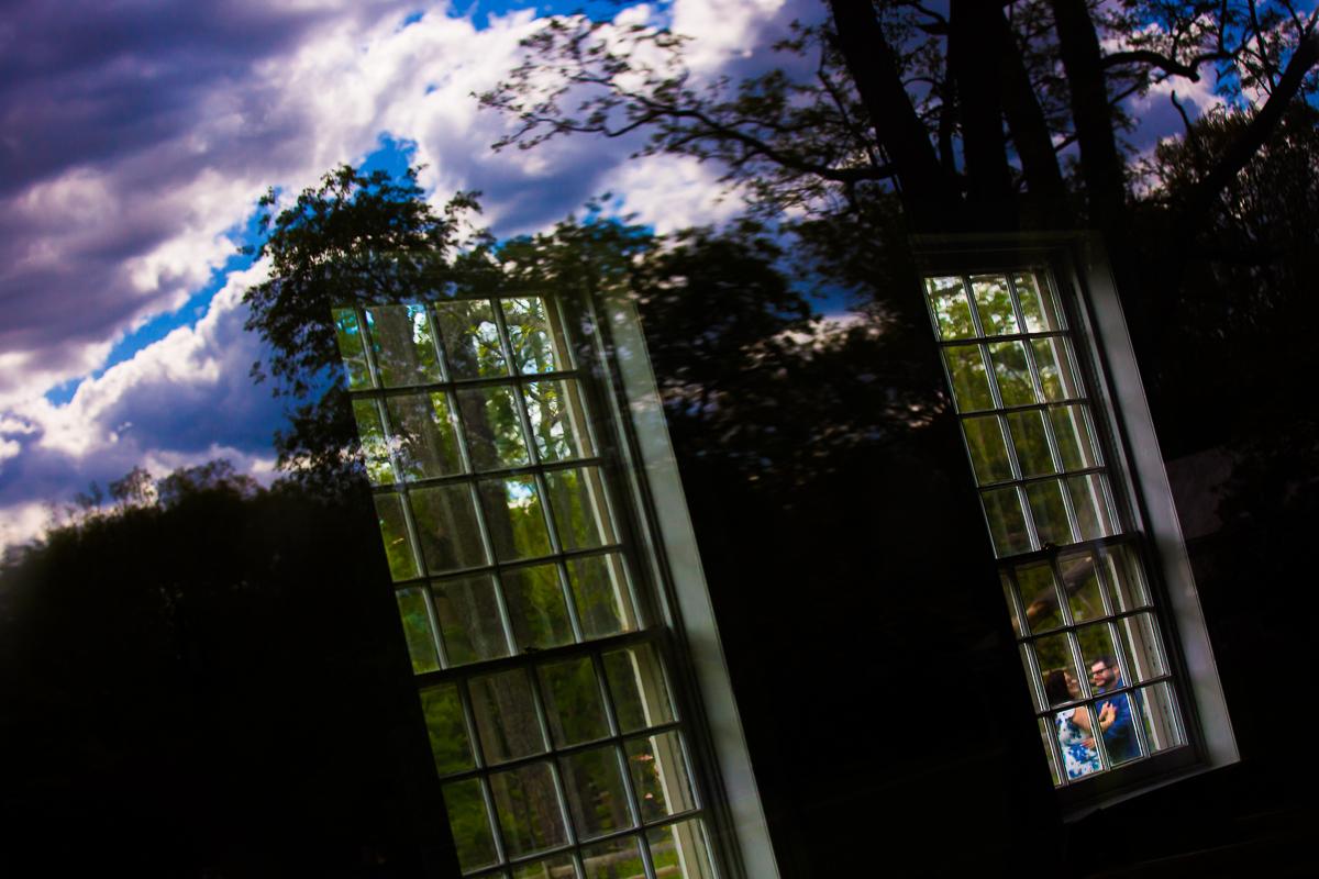 creative reflection photography unique NJ photographers Allaire Park Engagement