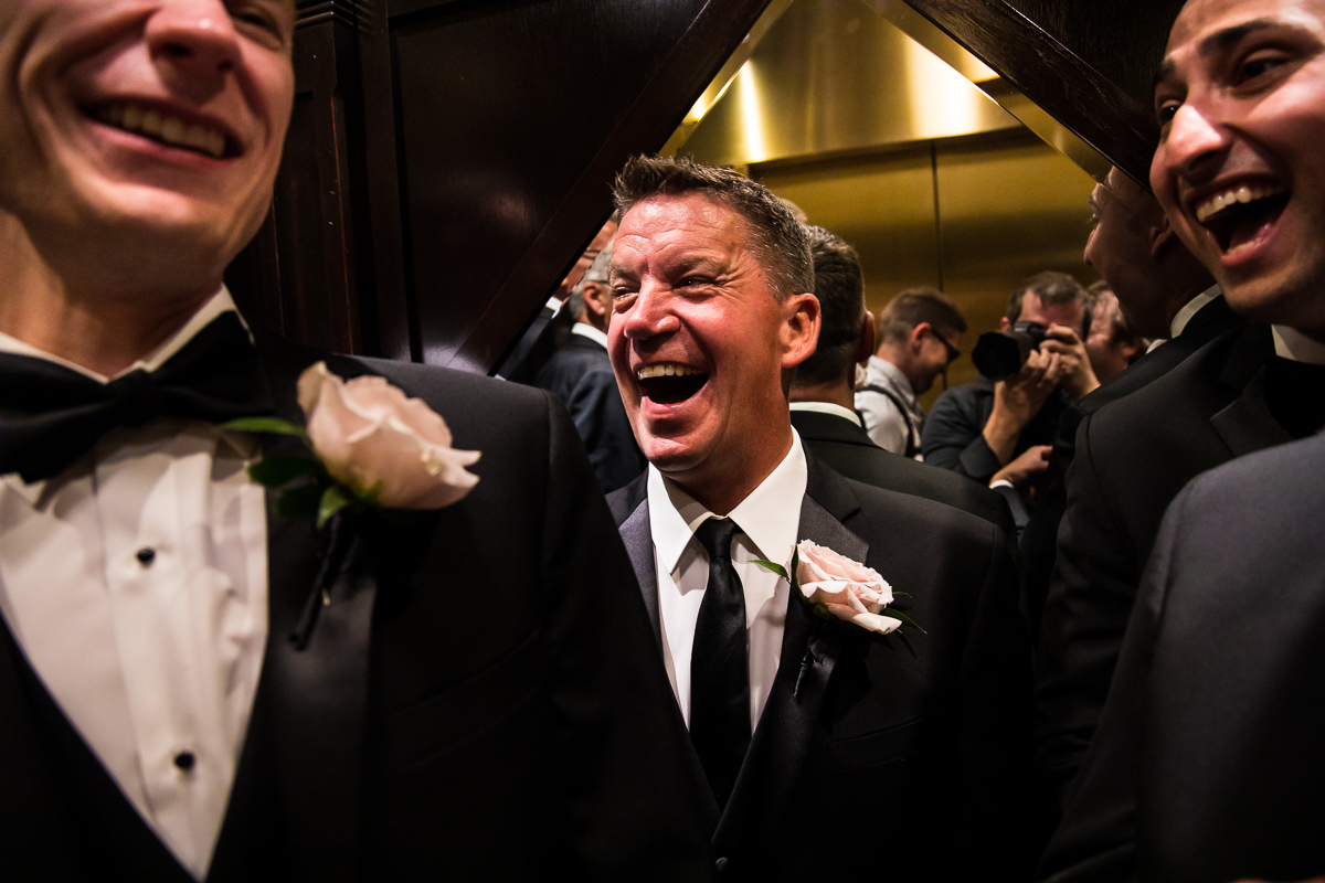 groomsmen laughing creative unique angle best pa wedding photographer