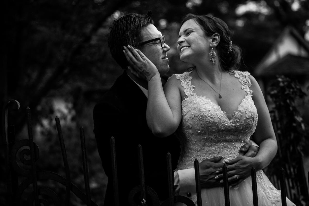 candid natural Pennsylvania black and white wedding photographer